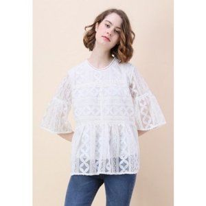 Chicwish Summer Lovin' Embroidered Dolly Top L/XL